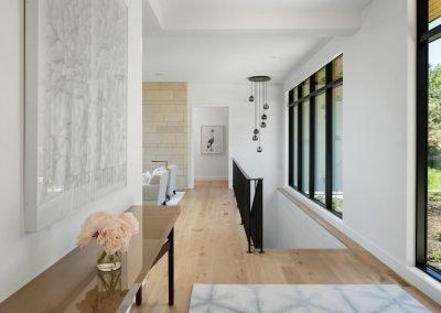 hallway in Tonka Bay Modern home