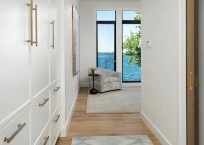 bedroom hallway in Tonka Bay Modern home
