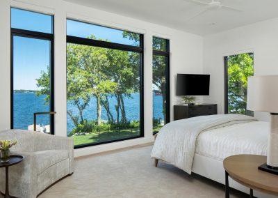 master bedroom in Tonka Bay Modern home