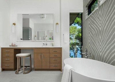 master bath in Tonka Bay Modern home