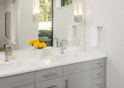 guest bathroom in Tonka Bay Modern home
