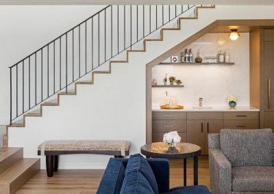 lower level stairway in Tonka Bay Modern home