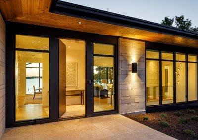 Tonka Bay Modern home entrance