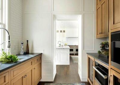 Wayzata Bay Coastal new home construction - butler pantry
