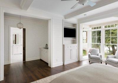 Wayzata Bay Coastal new home construction - master bedroom