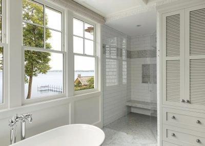 Wayzata Bay Coastal new home construction - master bath