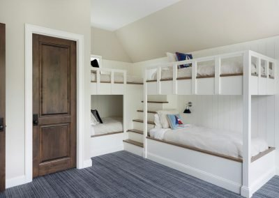 Wayzata Bay Coastal new home construction - bunkbeds