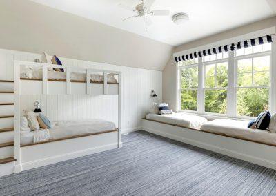 Wayzata Bay Coastal new home construction - child's bedroom