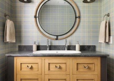 Wayzata Bay Coastal new home construction - bathroom vanity