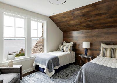 Wayzata Bay Coastal new home construction - guest bedroom