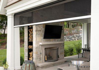 Wayzata Bay Coastal new home construction - patio