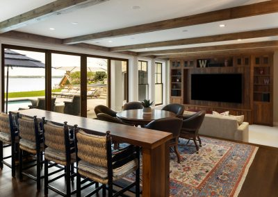 Wayzata Bay Coastal new home construction - lower level dining room