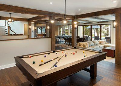 Wayzata Bay Coastal new home construction - pool room