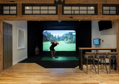 Wayzata Bay Coastal new home construction - virtual golf course