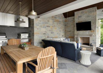 Wayzata Bay Coastal new home construction - outdoor kitchen