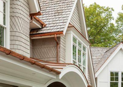 Wayzata Bay Coastal new home construction - patterned shingles
