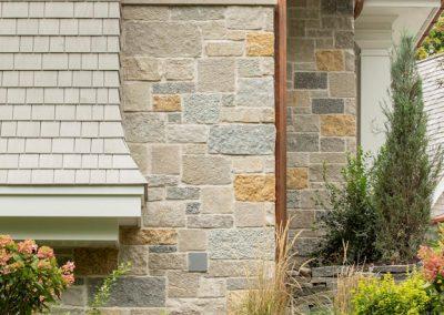 Wayzata Bay Coastal new home construction - natural stone veneer