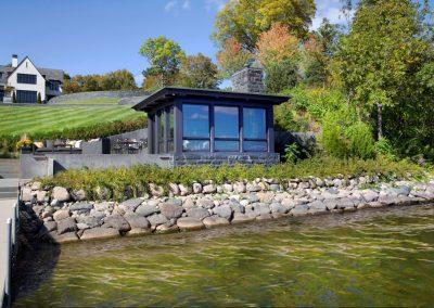 Wayzata Bay Estate boathouse