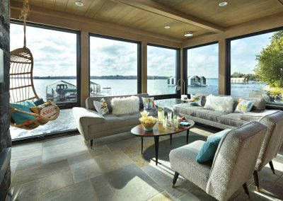 Wayzata Bay Estate boathouse patio