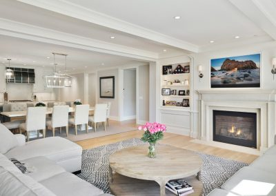 living room in Wayzata Luxury Condo