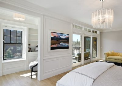 master bedroom in Wayzata Luxury Condo